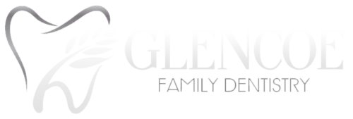 glencoe family dentistry logo white